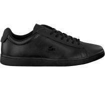 Schwarze Lacoste Sneaker Carnaby Evo 318