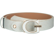 Weiße Guess Gürtel Logo Love Adjustable Belt