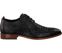 Schwarze Rehab Business Schuhe Greg Snake Stripes