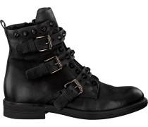 Schwarze Mjus Biker Boots 971237 Sole PAL