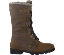 Braune Sorel Ankle Boots Emilie Lace
