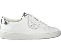 Silberne Michael Kors Sneaker Low Keaton Lace Up