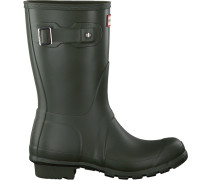 Grüne Hunter Gummistiefel Womens Original Short