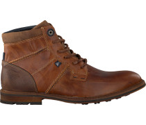 Cognacfarbene Gaastra Ankle Boots Crew High Boat