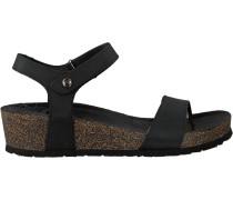 Schwarze Panama Jack Sandalen Capri B2