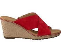 Rote Gabor Pantolette 829