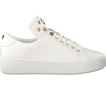 Weiße Michael Kors Sneaker Mindy Lace UP