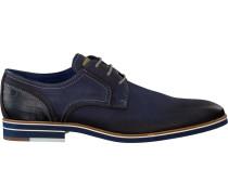 Blaue Braend Business Schuhe 15700