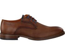 Cognacfarbene Van Lier Business Schuhe 1919206
