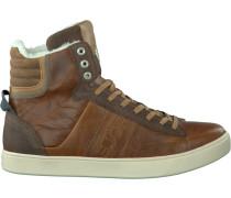 Cognacfarbene Bjorn Borg Sneaker Kansas High
