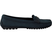 Blaue Mokassins Moccasin With Chain Detail