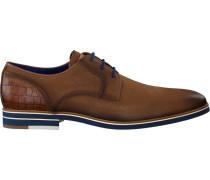 Cognacfarbene Braend Business Schuhe 15700