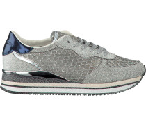Silberne Crime London Sneaker Dynamic Pailettes