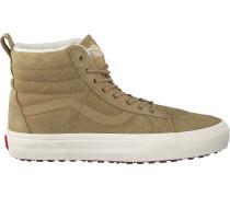 Beige Vans Sneaker Sk8 Hi Mte