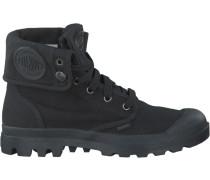 Schwarze Palladium Ankle Boots Baggy D