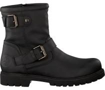 Schwarze Panama Jack Biker Boots Felina B9