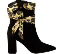 Schwarze Stiefeletten Hugo Boot/scarf