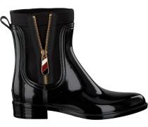 Schwarze Stiefeletten Material MIX Rain Boot