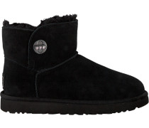 Schwarze UGG Winterstiefel Mini Turnlock Bling