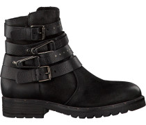 Schwarze Mjus Biker Boots 190224