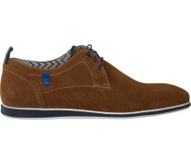 Cognacfarbene Business Schuhe 14076