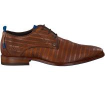 Braune Rehab Business Schuhe Greg Stripes