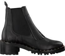 Schwarze Nubikk Chelsea Boots Djuna Fringe