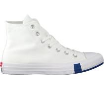 Converse Sneaker High Chuck Taylor As Multi Logo Weiß Damen