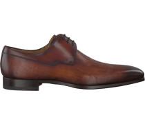 Cognacfarbene Magnanni Business Schuhe 18738