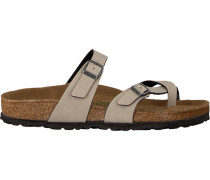taupe Birkenstock Papillio shoe Mayari Pull UP