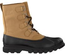 Camelfarbene Sorel Ankle Boots Portzman Classic Waterproof