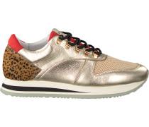 Goldfarbene Nubikk Sneaker EVI JAW