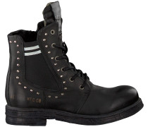 Schwarze Replay Biker Boots Rl260059l Skin