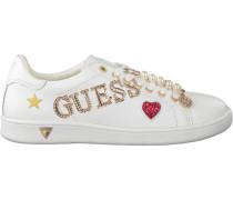 Weiße Guess Sneaker Flspe1 Lea12