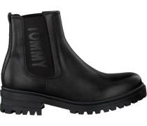 Schwarze Tommy Hilfiger Chelsea Boots En0En00242