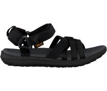 Black Teva Shoe Sanborn Sandal