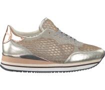 Goldfarbene Crime London Sneaker Dynamic Pailettes