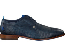 Blaue Rehab Business Schuhe Greg Stripes