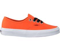 Orangene Vans Sneaker Authentic WMN
