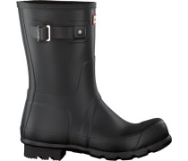 Schwarze Hunter Gummistiefel Mens Original Short