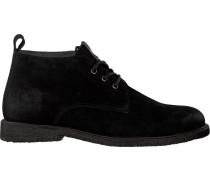 Schwarze Blackstone Schnürschuhe Qm82