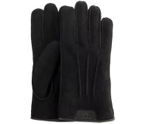 Schwarze Handschuhe Casual Glove With Leather Logo