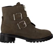 Grüne Omoda Biker Boots P5457omo