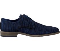 Blaue Braend Business Schuhe 16086