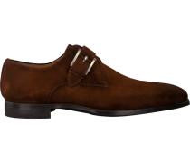 Cognacfarbene Magnanni Business Schuhe 19531