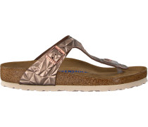 bronze Birkenstock Papillio shoe Gizeh Spectral