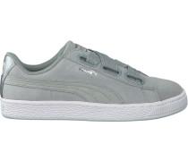 Graue Puma Sneaker Suede Heart Safari Dames