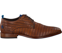 Braune Rehab Business Schuhe Greg Stripes