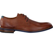 Cognacfarbene Van Lier Business Schuhe 5340