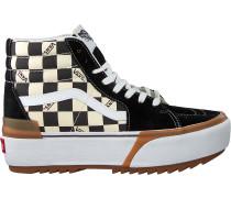 Schwarze Vans Sneaker High Ua Sk8-hi Stacked